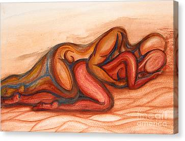 Spooning Canvas Print by Aurora Jenson