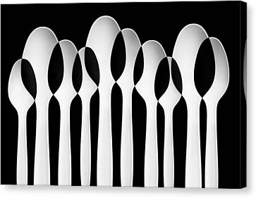 Spoons Abstract:  Forest Canvas Print by Jacqueline Hammer