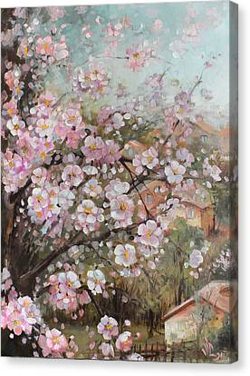Spring At Country Side Canvas Print by Vali Irina Ciobanu
