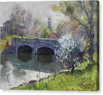 Spring At Delaware Lake Buffalo Canvas Print by Ylli Haruni