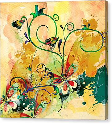 Spring Bliss Semi Abstract Design Canvas Print by Georgiana Romanovna