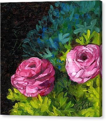 Spring Dewdrops Canvas Print by Alice Leggett