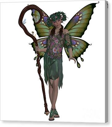 Spring Fairy Canvas Print by Corey Ford