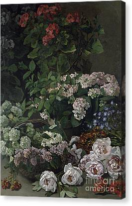 Spring Flowers Canvas Print by Claude Monet