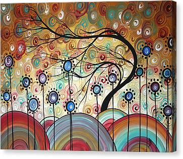 Spring Flowers Original Painting Madart Canvas Print by Megan Duncanson