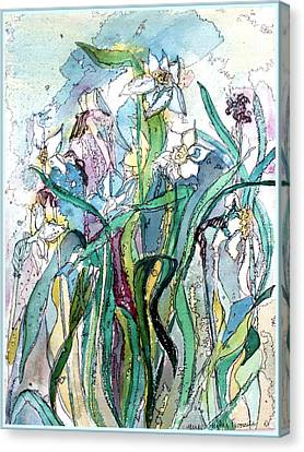 Spring Frenzy Canvas Print by Mindy Newman