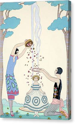 Spring Canvas Print by Georges Barbier