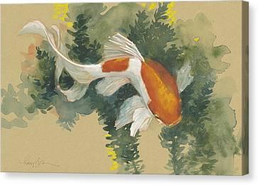 Spring Goldfish I Canvas Print by Tracie Thompson