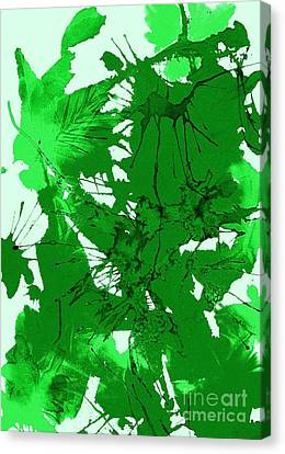 Spring Green Explosion - Abstract Canvas Print by Ellen Levinson
