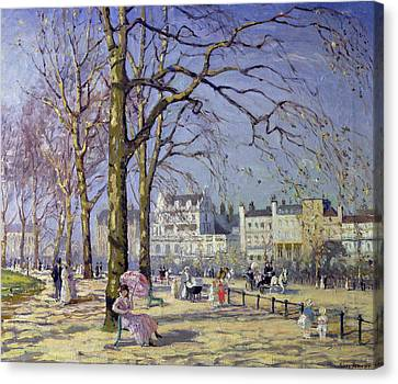Spring In Hyde Park Canvas Print by Alice Taite Fanner