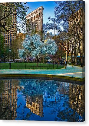 Spring In Madison Square Park Canvas Print by Chris Lord