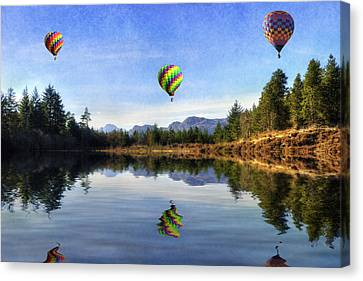 Spring Lake Canvas Print by Ian Mitchell