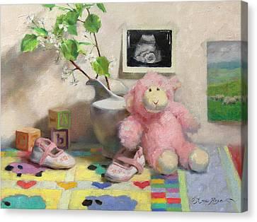 Spring Lambs Canvas Print by Anna Rose Bain