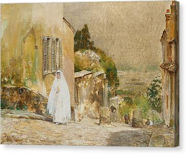 Spring Morning At Montmartre Canvas Print by Childe Hassam