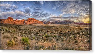 Spring Mountains Sunrise Canvas Print by Stephen Campbell