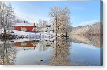 Spring Snow 2016 Canvas Print by Bill Wakeley