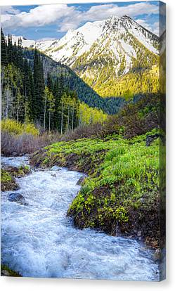Spring Snow Melt Wasatch Mountains Utah Canvas Print by Utah Images