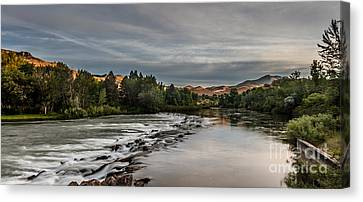 Spring View Of The Payette River Canvas Print by Robert Bales