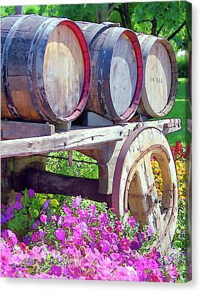 Springtime At V Sattui Winery St Helena California Canvas Print by Michelle Wiarda