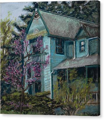 Springtime In Old Town Canvas Print by Mary Benke