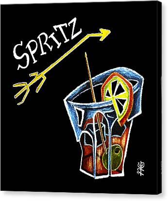 Spritz Aperol T-shirt Design Venice Italy - Venezia Veneto Italia Canvas Print by Arte Venezia