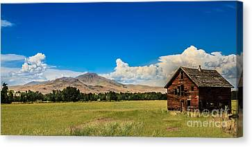 Squaw Butte And Little Butte Canvas Print by Robert Bales