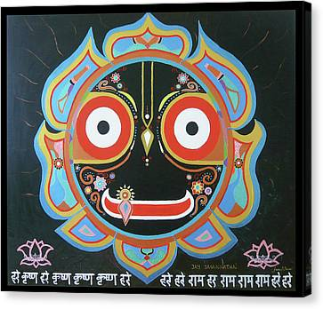 Sri Jagannath Canvas Print by Sandra Petra Art