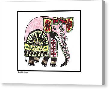 Sri Lankan Elephant Canvas Print by Tallulah P