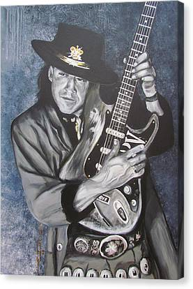 Srv - Stevie Ray Vaughan  Canvas Print by Eric Dee
