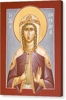 St Barbara Canvas Print by Julia Bridget Hayes