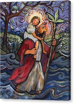 St. Christopher Canvas Print by Jen Norton