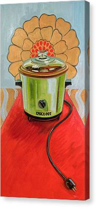 St. Crock Pot Of The Red Carpet Canvas Print by Jennie Traill Schaeffer
