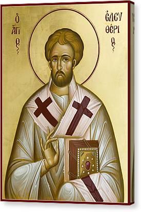 St Eleftherios Canvas Print by Julia Bridget Hayes