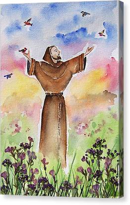 St Francis Of Assisi Canvas Print by Regina Ammerman