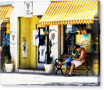 St. George Bermuda - Shopping On A Sunny Afternoon Canvas Print by Susan Savad