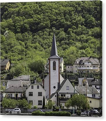 St George Parish Catholic Church Kestert Germany Canvas Print by Teresa Mucha