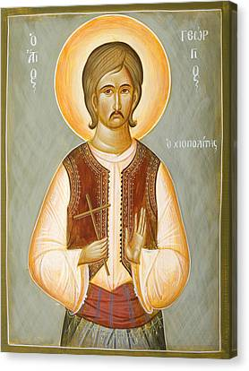St George The New Martyr Of Chios Canvas Print by Julia Bridget Hayes