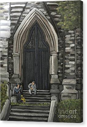 St Georges Parishioners Canvas Print by Reb Frost