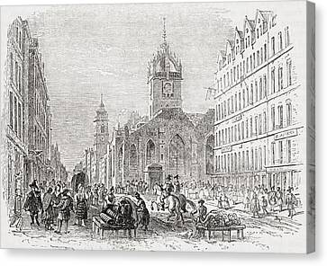 St Giles And The Old Tron Church Canvas Print by Vintage Design Pics