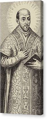 St Ignatius Loyola, Founder Of The Society Of Jesus Canvas Print by English School