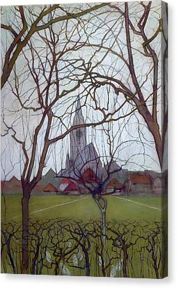 St Jacob's Church, Winterswijk Canvas Print by Piet Mondrian