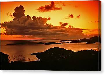 St. John Sunset Canvas Print by Bill Jonscher