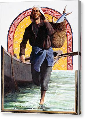 St. John The Evangelist - Lgeva Canvas Print by Louis Glanzman