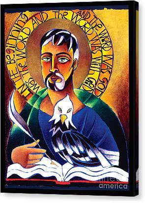 St. John The Evangelist - Mmjev Canvas Print by Br Mickey McGrath OSFS