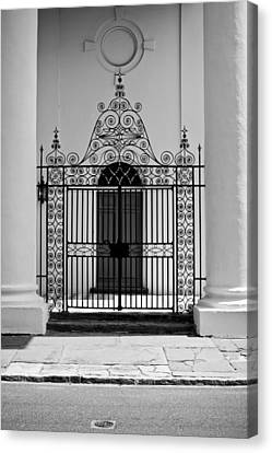 St John's Lutheran Church Entrance Canvas Print by Dustin K Ryan