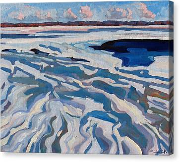 St Lawrence Ice Waves Canvas Print by Phil Chadwick