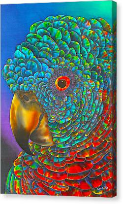 St. Lucian Parrot Canvas Print by Daniel Jean-Baptiste