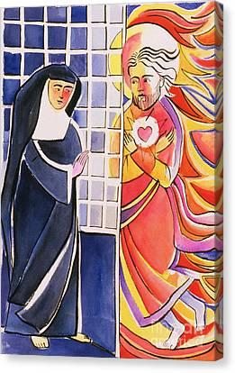 St. Margaret Mary Alacoque, Cloister - Mmmmc Canvas Print by Br Mickey McGrath OSFS