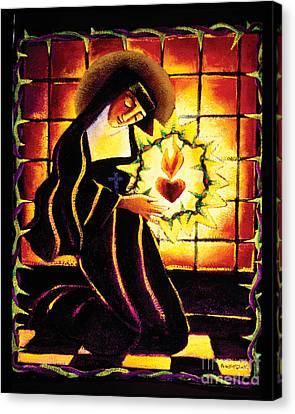 St. Margaret Mary Alacoque - Mmmma Canvas Print by Br Mickey McGrath OSFS