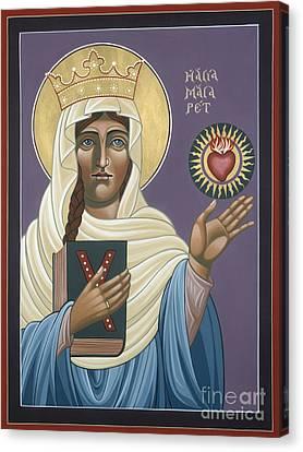 St Margaret Queen Of Scotland 158 Canvas Print by William Hart McNichols
